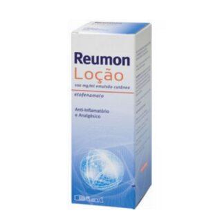 Reumon Loção 100mg/ml 200ml, medicamento indicado no alívio das dores musculares ligeiras ou moderadas e das articulações.