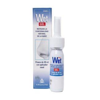 Wet Gel Nasal 20ml, gel nasal indicado na hidratação da mucosa em situações de secura nasal.