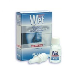 Wet Mini Spray Nasal 4 Frascos 15ml
