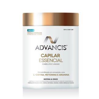 Advancis Capilar Essencial Cabelo e Unhas 300gr, é um suplemento alimentar em pó, com uma fórmula completa e equilibrada. Com um elevado teor em aminoácidos. A sua fórmula foi ainda enriquecida com videira vermelha, zinco e ainda vitaminas do complexo B.