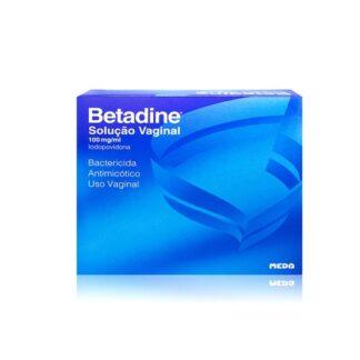 Betadina Solução Ginecológica é uma solução aquosa para irrigações vaginais, não irritante, com 10% de iodopovidona.
