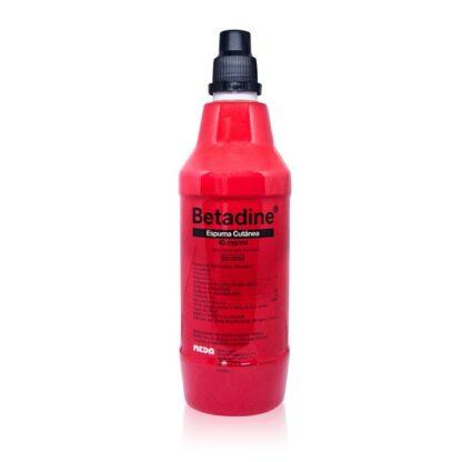 Betadine Espuma Cutânea 40mg/ml 500ml medicamento indicado na desinfeção da pele, mucosas e cabelo.