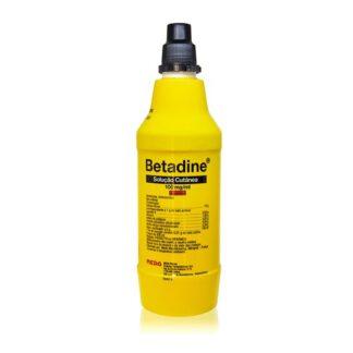Betadine Solução Cutânea medicamento indicado na desinfeção da pele e de feridas