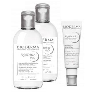 Bioderma Pigmentbio Água Mincelar H2O 250ml, água micelar indicada para limpar, desmaquilhar e unificar a pele do rosto