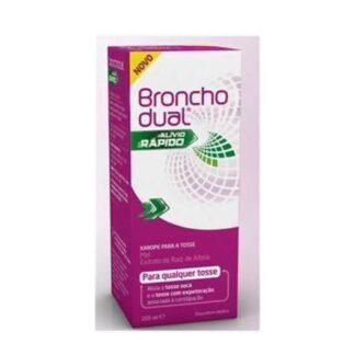 Bronchodual Alívio Rápido 200ml, xarope para a tosse seca ou com expetoração, associada à constipação.