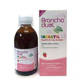 Bronchodual Infantil Xarope 200ml, xapore, com mel, indicado para a tosse associada à constipação, especialmente formulado para crianças a partir de 1 ano de idade.