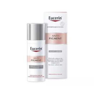 Eucerin Anti Pigment Creme Noite 50ml, reduz eficazmente as manchas escuras e previne o seu reaparecimento. Um creme de noite regenerador para uma pele uniforme e radiante.
