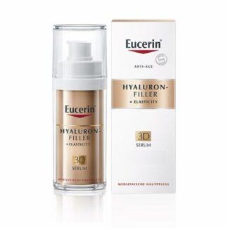 Eucerin Hyaluron-Filler + Elasticity 3D Sérum 30ml, sérum antienvelhecimento para pele madura. Adequado para todos os tipos de pele. Reduz as manchas da idade em 2 semanas