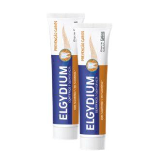 Elgydium Pasta Prevenção de Cáries 2x75ml, pasta dentífrico para a prevenção da cárie na dentição mista e adulta. Aconselhada nomeadamente para portadores de aparelhos ortodônticos.