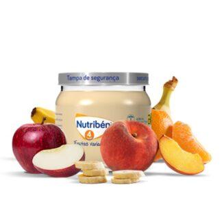 Nutribén Boião Frutas Variadas 120gr, uma deliciosa combinação de várias frutas, que vai agradar ao paladar do seu bebé. Enriquecido com vitamina C.