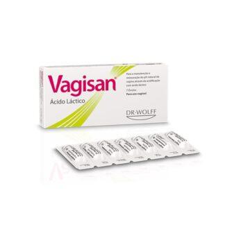 Vagisan Ácido Láctico 7 óvulos para a manutenção e restauração do pH natural da vagina.