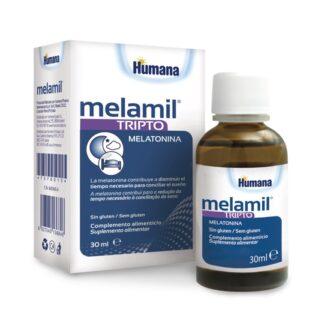 Melamil Tripto suplemento alimentar à base de melatonina, triptofano e vitamina B6. A melatonina contribui para reduzir o tempo necessário para conciliar o sono.