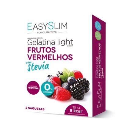 EasySlim Gelatina Frutos Vermelhos Stevia 2 Saquetas,gelatinas frescas, saborosas e disponíveis em vários sabores,