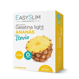 EasySlim Gelatina Ananás Stevia 2 Saquetas, gelatinas frescas, saborosas e disponíveis em vários sabores