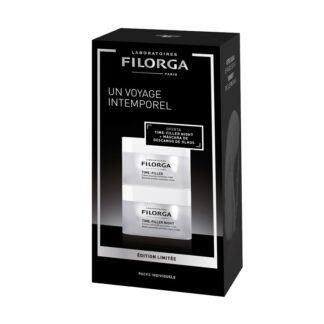Filorga Time Filler Creme 50ml + Time Filler Night 50ml, o kit ideal para quem procura cuidados específicos para as rugas.