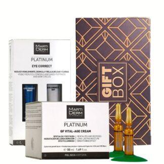 Martiderm Gift Box Platinum GF Vital-Age Creme Pele Seca + Eye Correct