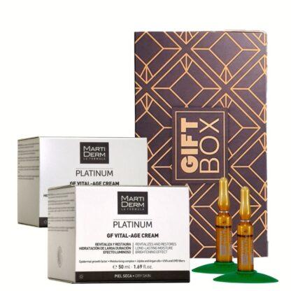 Martiderm Gift Box Platinum GF Vital-Age Creme Pele Seca + Night Cream 50 ml