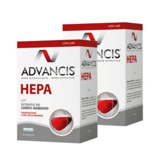 Advancis Hepa 60 Cápsulas, contém uma ação antioxidante e protetora hepática. De tal forma que proporciona um funcionamento adequado do fígado, especialmente durante os períodos de maior agressão ou quando este se encontra mais debilitado.