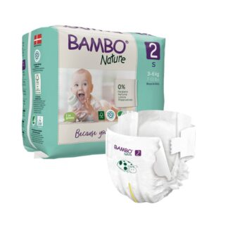 Bambo Nature 2 Fraldas 3-6kg 30 Unidades