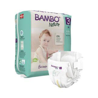 Bambo Nature 3 Fraldas 4-8kg 28 Unidades
