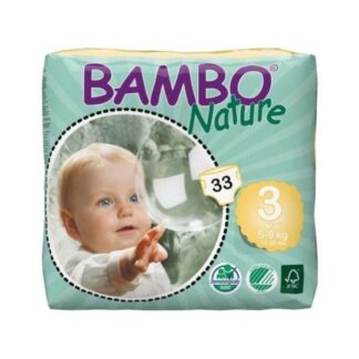 Bambo Nature 3 Fraldas 5-9kg 33 Unidades