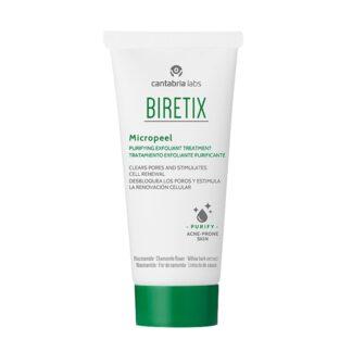 Biretix Micropeel Exfoliante 50ml, gel de limpeza esfoliante facial especialmente indicado para o cuidado da pele oleosa ou com tendência acneica.
