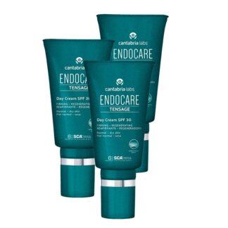 Endocare Tensor Day Creme SPF 30 50ml, creme de dia ligeiro e de rápida absorção, formulado com 6% de fatores de crescimento SC