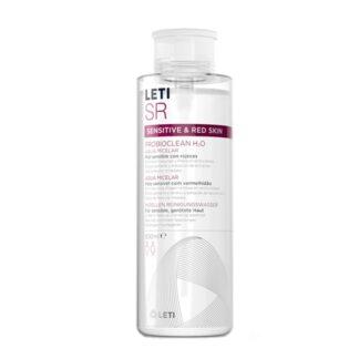 LetiSR ProbioClean H2O Água Micelar 500ml, limpa e desmaquilha em profundidade rosto e olhos, graças à ProbioClean Technology que contém Lactobacillus Ferment, um fermento de probiótico com propriedades hidratantes.
