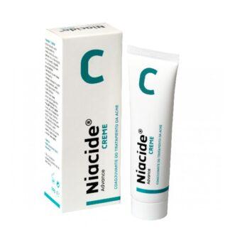 Niacide Creme 50gr, creme indicado como adjuvante no combate ao acne, indicado para pele seca e sensível, após tratamentos para o acne.