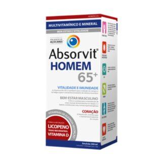 Absorvit Homem 65+ 300ml é um suplemento alimentar na forma de uma emulsão cremosa,