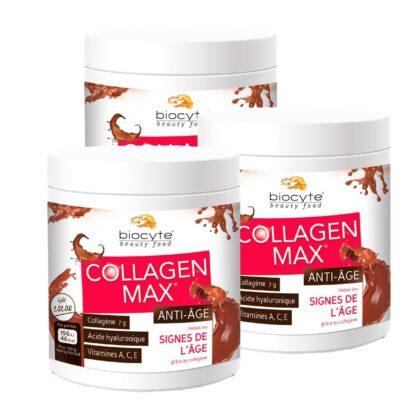 Biocyte Collagen Max Anti-Age 260gr Suplemento Alimentar à base de Colagénio hidrolisado marinho para combater as rugas e a flacidez da pele,