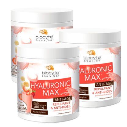 Biocyte Hyaluronic Max Anti-Age 260gr suplemento Alimentar à base de Ácido Hialurónico hidrolisado que hidrata a pele