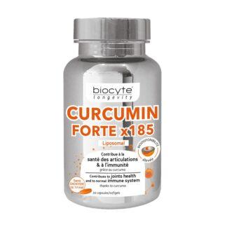 Biocyte Longevity Curcumin Forte 30 Cápsulasé formulado com curcumina microencapsulada na forma de micelas.