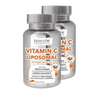 Biocyte Longevity Vitamina C 2x30 Cápsulas, é uma vitamina essencial para o bom funcionamento do corpo