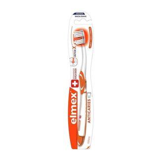 Elmex Escova Anticaries, escova dental com cabeça compacta para limpeza dos molares difíceis de alcançar