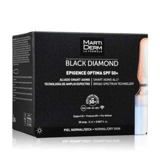 Martiderm Black Diamod Epigence Optima SPF50+ 30 Ampolas, fórmula revolucionária anti-idade global,