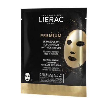 Lierac Premium Máscara Ouro Sublimadora 20ml, ilumima, preenche, alisa e hidrata. Uma pele transformada em apenas 15 minutos