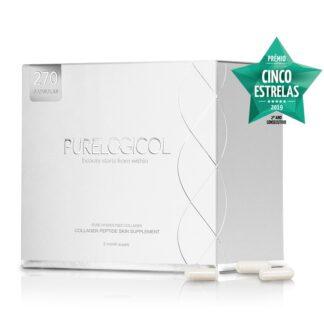Purelogicol 270 Cápsulas é o único suplemento de colagénio 100% puro, de elevada qualidade