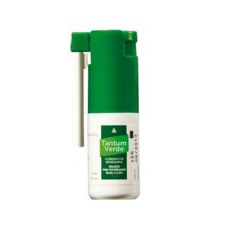 Tantum Verde Nebulizador Bucal 30ml, medicamento indicado no tratamento de inflamações da orofaringe.