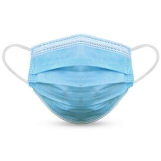 Máscaras Cirúrgicas em polipropileno 3 camadas com elástico de fixação, não reutilizáveis.