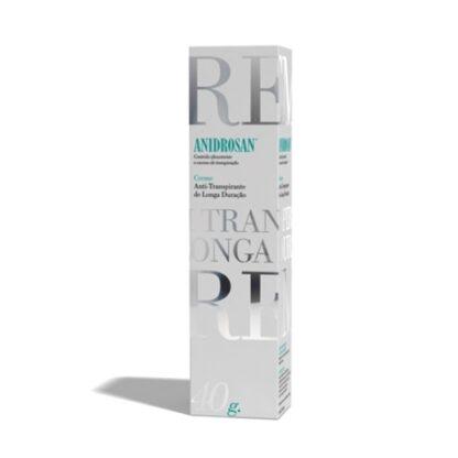 Anidrosan Creme Antitranspirante 40ml, creme antitranspirante de longa duração para peles sensíveis.