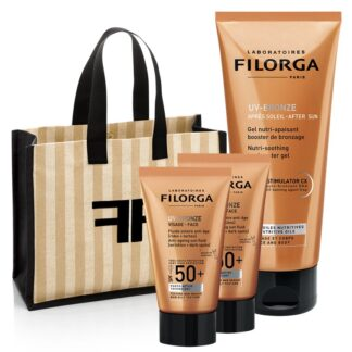 Filorga UV-BRONZE FACE SPF50+ Fluido Solar Antienvelhecimento [Rugas + Manchas] + UV-BRONZE AFTER SUN Gel Nutritivo Intensificador do Bronzeado