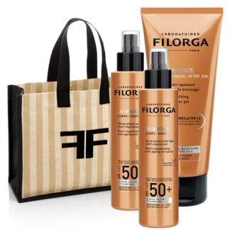 Filorga  UV-BRONZE AFTER SUN Gel Nutritivo Intensificador do Bronzeado +  UV-BRONZE BODY SPF50+ Spray solar antienvelhecimento nutritivo e regenerador