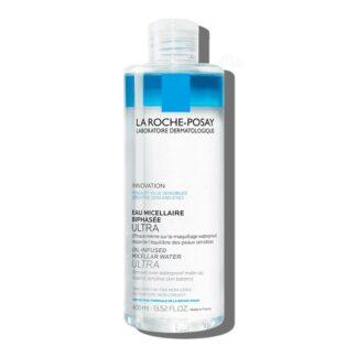 La Roche Posay Água Micelar Ultra Bifásica 400ml, limpa suavemente e remove ate a maquilhagem à prova de água