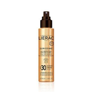 Lierac Sunissime Leite Protetor Global FPS30 100ml, A 1ª gama de cuidados solares antienvelhecimento* que protege do espetro global energizando a pele.