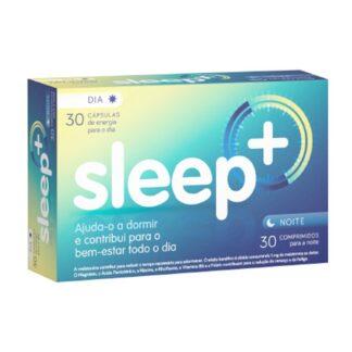 Sleep+ 30 cápsulas + 30 comprimidos, suplemento alimentar que o ajuda a dormir e contribui para o bem-estar todo o dia