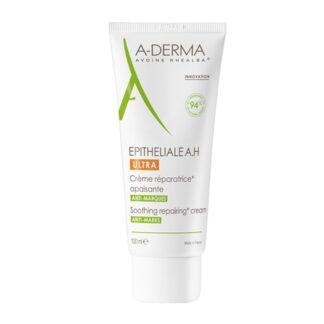 A-Derma Epitheliale A.H Ultra Creme Reparador 100ml, calmante utiliza-se em todas as peles fragilizadas na sequência de atos dermatológicos superficiais e agressões superficiais da epiderme, que podem deixar marcas cutâneas.