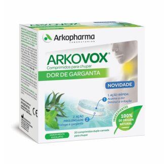 Arkovox Menta e Eucalipto Dupla Camada 20 Comprimidos de Chupar