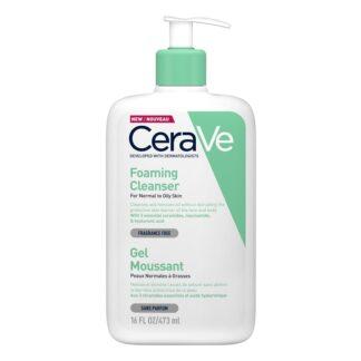 CeraVe Gel de Limpeza Espumoso 473ML, gel espuma de Limpeza refrescante que remove as impurezas e o excesso de oleosidade protegendo a pele.