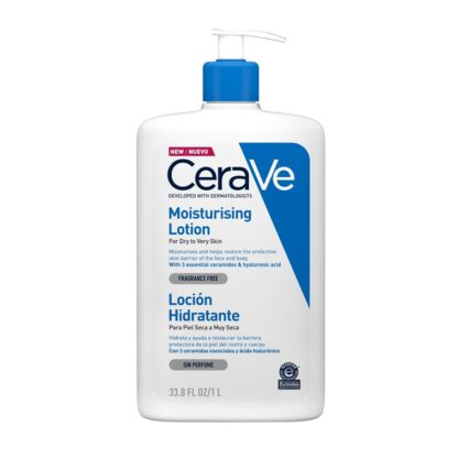 CeraVe Moisturizing Loção Hidratante 1000ML loção Hidratante para rosto e corpo, hidrata e protege a pele.